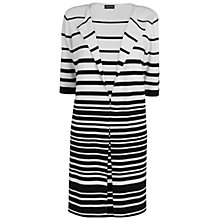 Buy Jaeger Graduated Stripe Coat, White Online at johnlewis.com