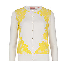 Buy Ted Baker Lace Detail Cardigan, White Online at johnlewis.com