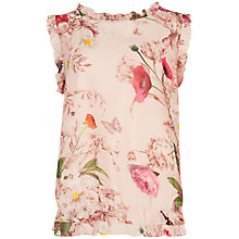 Buy Ted Baker Daelyn Floral Woven Top, Pale Pink Online at johnlewis.com