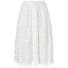 Buy Jaeger Broderie Anglaise Skirt, Ivory Online at johnlewis.com