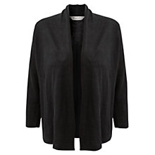 Buy East Waterfall Linen Cardigan, Black Online at johnlewis.com