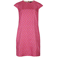 Buy Ted Baker Allysia Geo Print Tunic Dress, Bright Pink Online at johnlewis.com