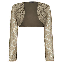 Buy James Lakeland Lace Bolero, Beige Online at johnlewis.com
