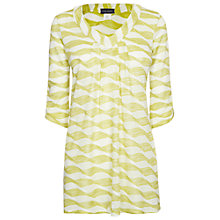 Buy James Lakeland V-Neck Tunic Top, Green Online at johnlewis.com
