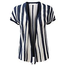 Buy East Stripe Linen Cardigan, Royal Blue Online at johnlewis.com