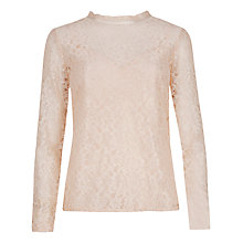 Buy Ted Baker Lovlo Long Sleeve Top, Pale Pink Online at johnlewis.com