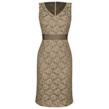 Buy James Lakeland Lace V-Neck Dress, Beige Online at johnlewis.com