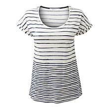 Buy East Regan Stripe T-Shirt, Royal Blue Online at johnlewis.com