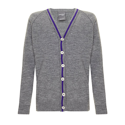 Buy Daiglen School Girls' Cardigan, Grey Online at johnlewis.com