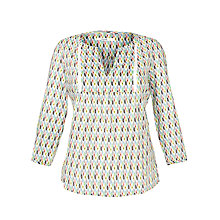 Buy Seasalt Larkspur Top, Ikat Diamond Multi Online at johnlewis.com