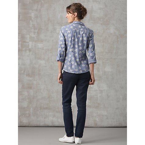 Buy Seasalt Gardener Shirt, Falling Hydrangia Indigo Online at johnlewis.com