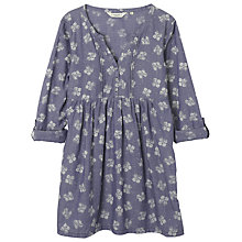 Buy Seasalt Polgreen Tunic Top, Falling Hydrangia Indigo Online at johnlewis.com