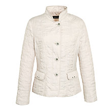 Buy Gerry Weber Short Silver Button Quilted Jacket Online at johnlewis.com