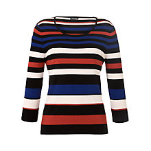 Buy Gerry Weber Scoop Neck Stripe Jumper, Blue Stripe Online at johnlewis.com