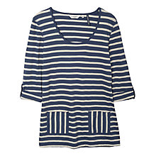 Buy Seasalt Temperate Tunic, Evening Tide French Navy Online at johnlewis.com