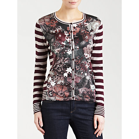 Buy Gerry Weber Stripe Floral Print Cardigan Online at johnlewis.com