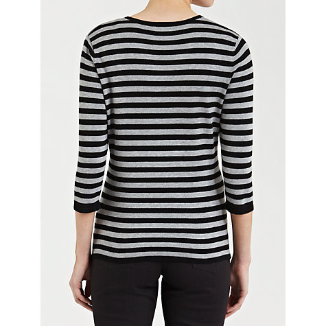 Buy Gerry Weber Embellished Stripe Jumper, Black Online at johnlewis.com