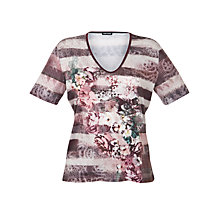 Buy Gerry Weber V-Neck Printed T-Shirt Online at johnlewis.com