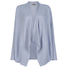 Buy Jigsaw Linen Cotton Cardigan, Soft Blue Online at johnlewis.com