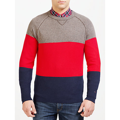 Buy Tommy Hilfiger Sven Colour Block Jumper Online at johnlewis.com