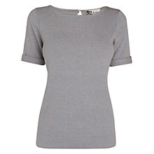 Buy Boutique by Jaeger Fluoro Knitted T-Shirt, Grey Online at johnlewis.com