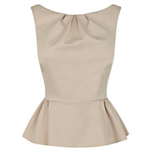 Buy Coast Sancia Peplum Top, Natural Online at johnlewis.com