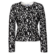 Buy Gina Bacconi Lace Jacket, Black/Chalk Online at johnlewis.com