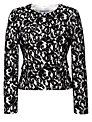 Gina Bacconi Lace Jacket, Black/Chalk