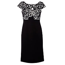 Buy Gina Bacconi Lace Bodice Dress, Black/Chalk Online at johnlewis.com