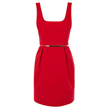 Buy Oasis Ria Lantern Dress, Red Online at johnlewis.com