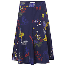 Buy White Stuff Mountain Flower Skirt, Dark Komono Online at johnlewis.com