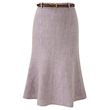 Buy CC Linen Belted Skirt, Purple Online at johnlewis.com