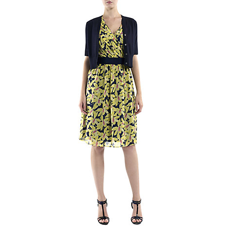 Buy Havren Orchid Belted Dress, Yellow/Navy Online at johnlewis.com