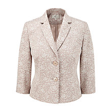 Buy CC Jacquard Flower Jacket, Biscuit Online at johnlewis.com