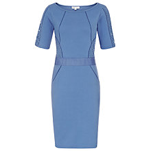 Buy Reiss Lace Panel Bodycon Dress, Mid Blue Online at johnlewis.com