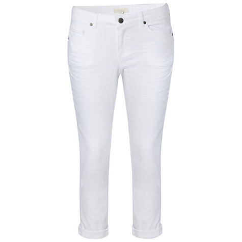 Buy White Stuff Southern Ocean Cropped Jeans, White Online at johnlewis.com
