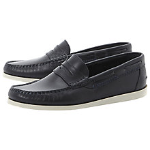 Buy Bertie Bounce Contrast Sole Leather Boat Shoes Online at johnlewis.com