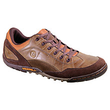 Buy Merrell Sector Pike Leather Lace Up Trainers, Black Online at johnlewis.com