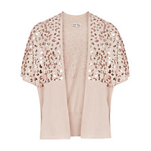 Buy Reiss Embellished Cover Up, Blush Online at johnlewis.com