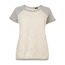 Buy Phase Eight Made in Italy Sequin Lace Jumper, Grey Online at johnlewis.com