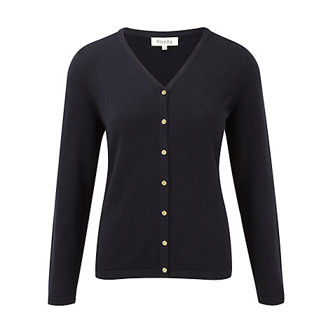 Buy Viyella Buttoned Cardigan, Navy Online at johnlewis.com