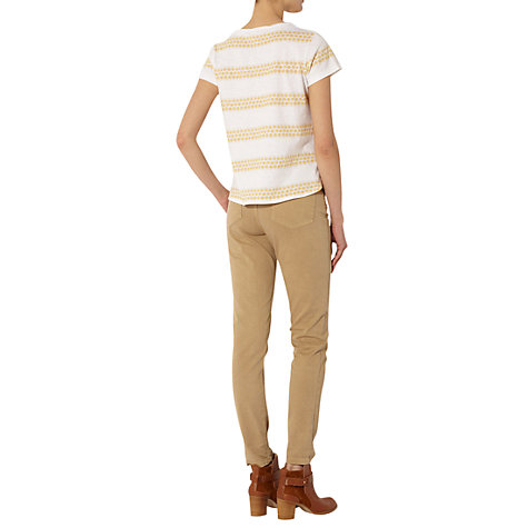 Buy NW3 by Hobbs Lace Stripe T-Shirt, White Banofee Online at johnlewis.com