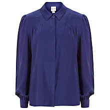 Buy Reiss Luxury Silk Shirt, Electric Blue Online at johnlewis.com