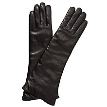 Buy John Lewis Long Plain Leather Gloves Online at johnlewis.com