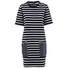 Buy Whistles Sasha Striped Jersey Dress, Blue/Multi Online at johnlewis.com