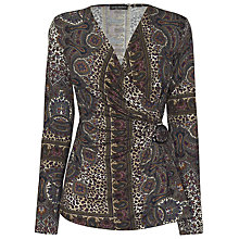 Buy James Lakeland Paisley Side Knot Top, Multi Online at johnlewis.com