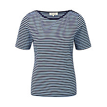 Buy Viyella Striped Jersey Top, Navy Online at johnlewis.com