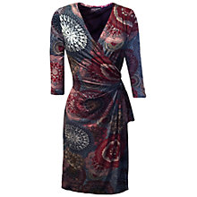 Buy James Lakeland Side Knot Dress, Burgundy Online at johnlewis.com