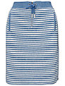 Whistles Milly Striped Skirt, Blue