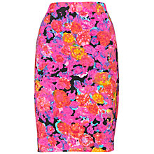 Buy Whistles Victoria Pencil Skirt, Pink/Multi Online at johnlewis.com